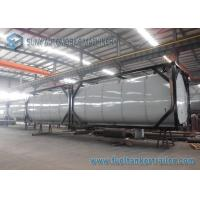 China Horizontal 40 Feet 50000L Heating Bitumen Tanker ISO Tank Containers on sale