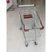Quality Wire Grocery Supermarket Shopping Carts Zinc Plating Clear Powder Coating for sale