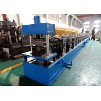 China Galvanized Quad Gutter Roll Forming Machine , Electric Control Gutter Rolling Machine wholesale