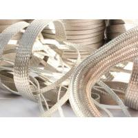 China Strong Metal Tinned Copper Braided Sleeving Clear Cut For Cable Shielding wholesale