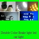 China Double Color Brake light 3157 60SMD 5050  1W color changing led brake bulb wholesale
