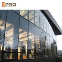 China Tempered Glass Aluminium Curtain Wall With Logo And Pattern Printed on sale