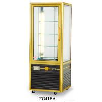 China 418L Single Temperature Refrigerated Cake Display Cabinets All - Sides Tempered Glass Aluminium Frame wholesale