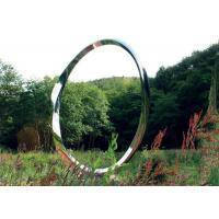 Buy cheap Contemporary Stainless Steel Art Sculptures , Ring Sculpture Polished Finish from wholesalers