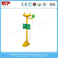 China SS304 Emergency Manual Eye Washer With Flow Control Regulator SGS Certification wholesale