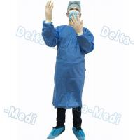 China Blue Disposable Surgical Gown , SMS Surgeon Gown With Hand Towels wholesale