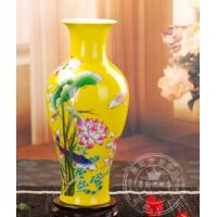 Chinese red vase fish shape with lotus Manufactures