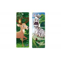 Quality 3d Animal Bookmark With Tassel Lenticular Flip 0.6mm PET For Books 5.6 x 15.3cm for sale
