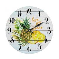 China Brief Style Wholesale Decorative Quartz Round Face Wall Clocks Custom printed glass wall clock for home decoration wholesale