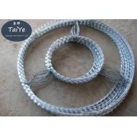 China Double Cross  Concertina Razor Barbed Wire Coils 1600 MPa High Tensile wholesale