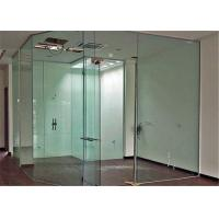 China Clear Flat Tempered Glass Partition Wall / Glass Partition Size Customized on sale