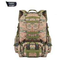 China 55L Multifunction Sport Bag Tactical Bag Water Resistant Camouflage Backpack for Outdoor Climbing Hiking Camping wholesale