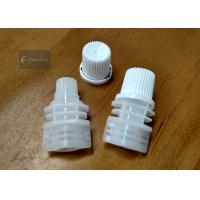 China White Color PE Pour Spout Caps Screw Type Outer Diameter 10.5 Millimeter wholesale