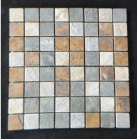 China In door mosaic slate stone tile home depot wholesale