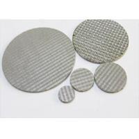 China 316L Sintered Mesh Filter Disc / Metal Mesh Air Conditioner Filters wholesale