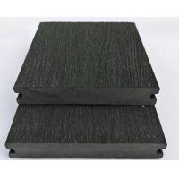 China 140X23 composite charcoal color wpc decking end caps wpc deck co-extruded decking wholesale
