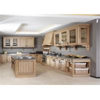 Modern Solid Wood White Kitchen Cabinets MDF Board With Single Sink / Faucet
