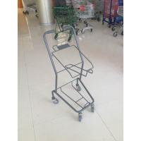 China Colorful Steel Shopping Basket Trolley With PVC / PU / TPR Wheel wholesale
