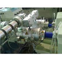 China Rainwater Drainage PVC Twin Pipe Extrusion Machine , PP PE PVC Twin Pipe Production Line wholesale
