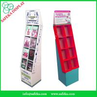 China Pop Cheap Custom printed Promotion Rack Supermarket advertising shelf Cardboard DVD CD display stand with pockets on sale