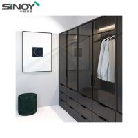 China Wardrobe Black Ral9005 Back Painted Colored Glass For Interior Dressing Room Deco wholesale
