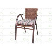 China Outdoor Dining Chairs Bamboo Liked Aluminum Outdoor Resin Wicker Chair wholesale