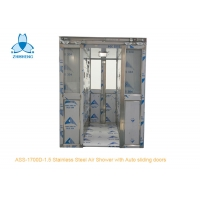 China Two Person Stainless Steel Air Shower With Auto Double Leaf Sliding Doors wholesale