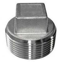 China Stainless steel SS316L casting pipe fitting forged square hex head thread plug wholesale