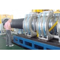 China ID 800mm PE/PVC plastic corrugated pipe extrusion line and extruder for drainage on sale