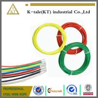 China high tensile strength strand 0.9-2mm pvc coated galvanized steel wire rope for lifting wholesale