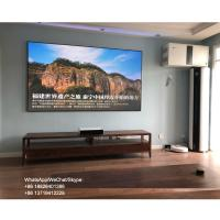 China 100 inch ambient light rejecting screen 4k ust xiaomi wemax one fixed frame projector screen pet crystal on sale