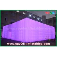 China Oxford Cloth White Outdoor Giant Inflatable Led Cube Event Tent for Party on sale
