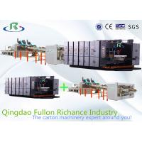China Automatic Flexo Printing Slotting Die-Cutting Folder Gluer Strapping Inline Machine on sale