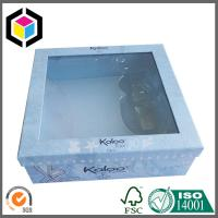 China Clear Plastic Window Paper Gift Box; Plastic Insert Tray Gift Packaging Box on sale