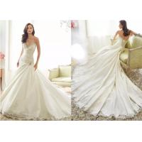 A Line Tea Length Wedding Dresses