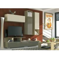 China Living Room Tv Stand Durable , Wall Mounted Tv Unit High Gloss Hanging Cabinet wholesale