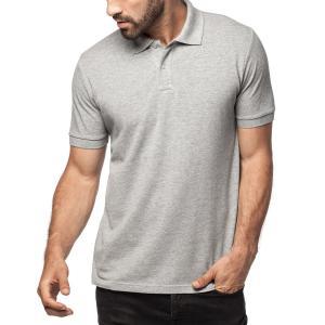 China Pique Knit Rib Collar And Cuff Mens Cotton Polo Shirts , 2 Buttons Pocket Polo Shirts wholesale