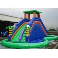 China Double Inflatable Water Slide Among Pool PVC Tarpaulin Material Water Park Slide wholesale