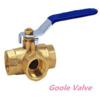 China Manual handle Three way brass ball valve wholesale