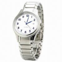 China Stainless Steel Watch with Clalendar Japan Movement, Stainless Steel Case and Strap wholesale