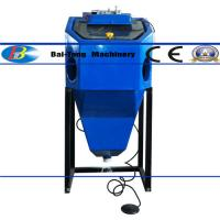 China Mini Suction Type Wet Sandblasting Cabinet 450*450*400mm Work Cabinet wholesale