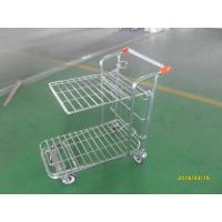 China Retail Store supermarket Warehouse Cargo Trolley with 5 inch swivel flat TPE casters wholesale