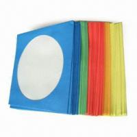 Color Paper Sleeves with Clear PP Window Diameter of 12cm, Suitable for CD or DVD Discs