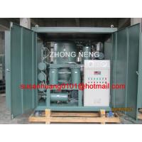 China High vacuum Transformer oil purifier used for filtration, dehydration and degasification for power Transformer wholesale