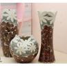 China Ceramic three-piece home furnishing articles vase handmade chrysanthemum wholesale