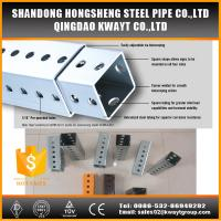 China Outdoor steel traffic galvanized perforated square sign post wholesale