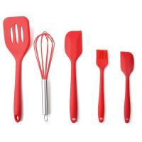China High Quality Silicone Kitchen Utensil Set 5 Piece Cooking Tools Utensils Brush Kitchen Accessories wholesale
