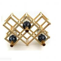 China Portable Wooden Foldable Diamond-Shape 8 Bottle Wine Rack Display for Kitchen, Dinning Room, Resting Room wholesale