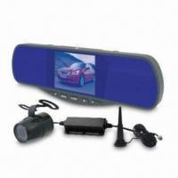 China 3.5-inch Rearview Mirror Monitor System with Mall Reverse Camera and 4-channel Wireless Receiver wholesale