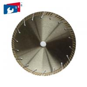 China Segmented Turbo Saw Blade , Granite Cutting Tools Polishing Or Painted Finishing wholesale